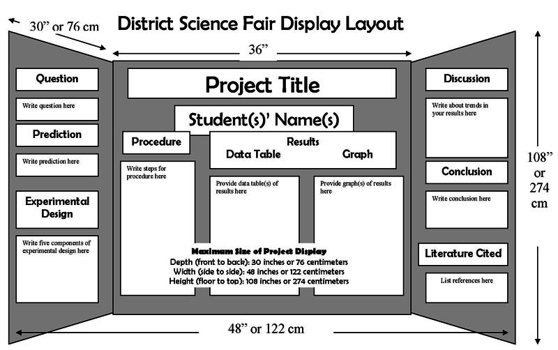 science fair poster layout